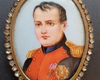 1800's mini  porcelain portrait