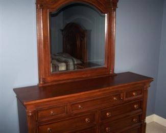 NEWER DRESSER & MIRROR--PART OF A MATCHED SET