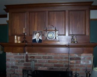 OLD MANTLE CLOCK & MISC.