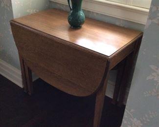 Antique oak drop leaf table $300