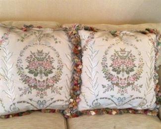 Custom antique silk pillows $990 each