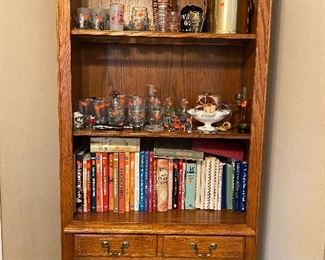 Cookbook Collection and Vintage Barware