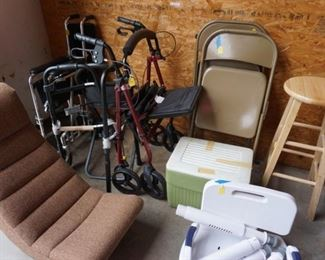 game chair, handicap equipment, stool, folding chairs