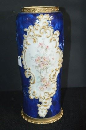 3665 - Tall Blue Wavecrest Vase