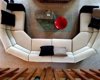 Custom Designed Sectional Sofa,  14ft long, 8ft deep