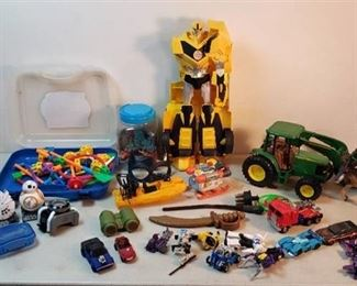 Transformers, Star Wars, John Deere and additional toys