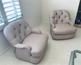 Silk Carson chairs -Pair $550
