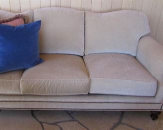 Pearson 80 inch cream sofa with nailhead We have two