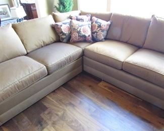 Stickley 94 by 94 inch 5 cushion sectional