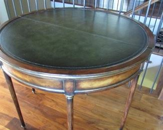 """Ta Da it opens to a leather top table 42"""""""