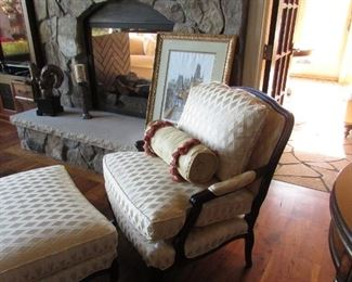 Sam Moore Chair and Ottoman in perfect condition