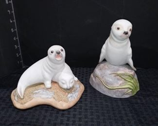 Kaymar No 270 Harp Seal Pups with No 83 Sea Lion Pup Figurines