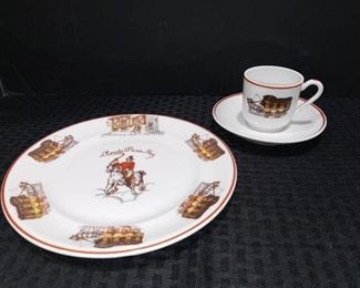 Theodore Haviland Limoges Plate Tea Cup and Saucer Set