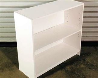 Simple White Wood Bookcase With Adjustable Shelf
