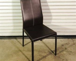 Minimalist Brown Upholstered Dining Chair