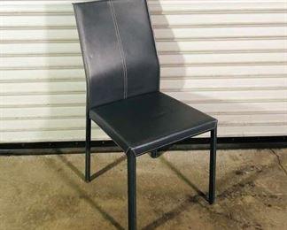 Sleek Minimalist Grey Dining Chair