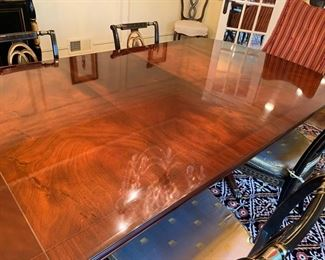 """83. English Mahogany 4 Pedestal Dining Table from Richard Bevan w/ 3-39"""" leaves (80"""" x 47"""" x 31"""")"""
