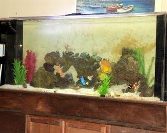 285 Gallon Salt Water Aquarium with Accessories and Fish!