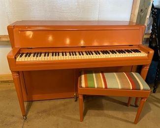 Painted Wurlitzer piano