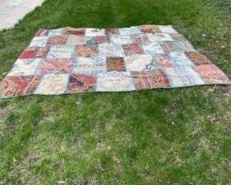 Patchwork quilt rug
