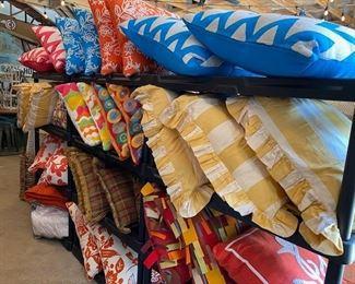 High end outdoor pillows