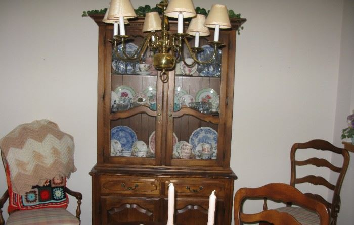 Ethan Allan china cabinet   BUY IT NOW $ 385.00