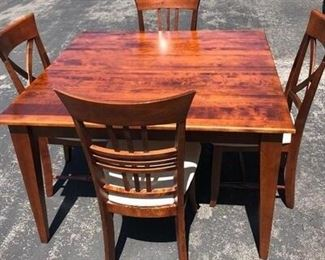 Square Dining Table with Chairs