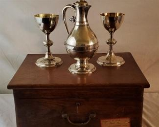 001 Historic Winchester, KY Sterling Travel Communion Set