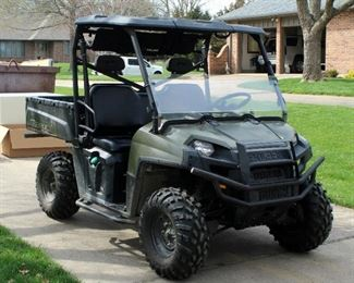 2010 Polaris Ranger, Diesel Powered Utility Vehicle, VIN 4XATH90D2B2172395, Powers On, 904cc Engine, New Tires