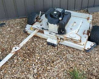 "Polaris Gas Powered Pull-Behind Finish Mower, 44"" Deck, Brigg And Stratton 8HP Engine"