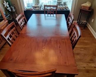Beautiful Mission Style Cherry Wood Dining Table & Buffet