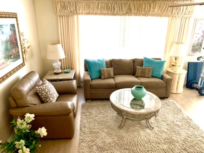 The sofa is an American Signature Burton Sofa, and it was never used!