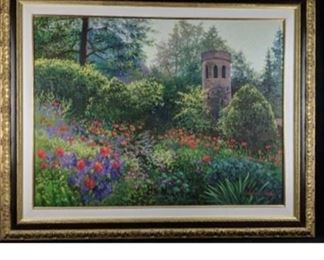 """Shearer Miles Seriolithograph """"Summer Enchantment."""" signed in the Plate. It comes with a certificate of authenticity and an appraisal."""