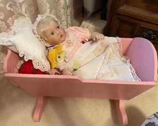 Doll, crib