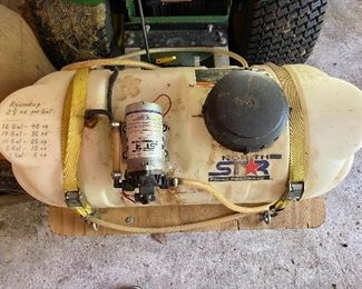 Aerator Spray Tank on the JD Lawn Tractor