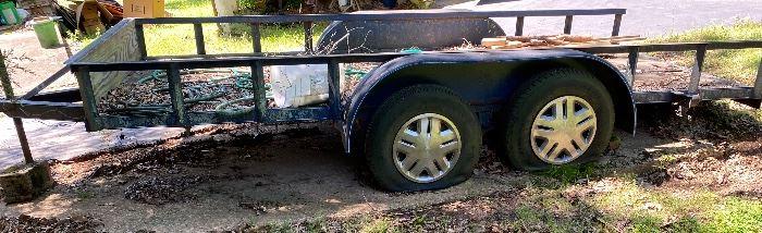 6 x 14 Utility Trailer Tandem Axle (needs tires)