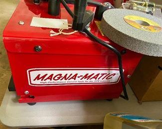 Magna-Matic Mower Blade Sharpener