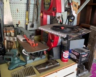 Band saw, scroll saw and lots of great hand tools. Many items still in original box!