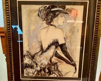 Double matted, raised framed Art $39