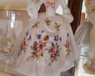 Royal Doulton porcelain Victorian lady figurines