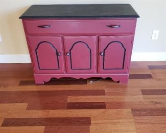 Rusty Red Cabinet