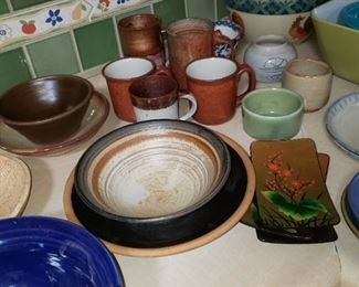 Lots of Hand Thrown Pottery