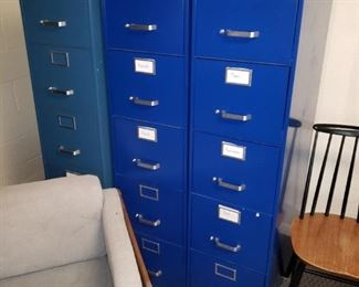Many filing cabinets in good condition