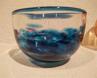 Blue and clear bowl