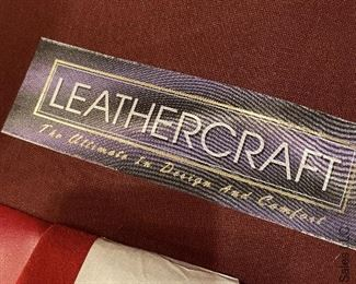 ITEM 15: Leathercraft red leather club chair, excellent condition. Generous proportions.  $825