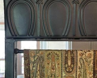 """ITEM 16: Metal frame screen with fabric panels, 72.25"""" 56.5"""" $85"""