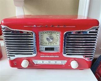 "ITEM 53: TEAC AM/FM stereo Alarm clock CD Disc player radio. 11"" x 7.5"" x 6.25""  $48"