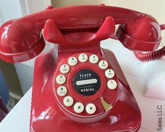 ITEM 52: vintage PF Grand (model) red phone $30