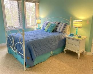 ITEM 59: Queen and matching ITEM 59a: Twin (not shown) metal beds.   queen $275   twin $195