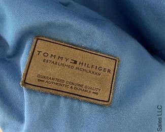 ITEM 62: Tommy Hilfiger Blue Full (heavy weight) Comforter with 2 stripe bed Shams  $45